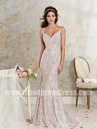 Wedding - Alfred Angelo 8531 Lace Fit And Flare Wedding Gowns