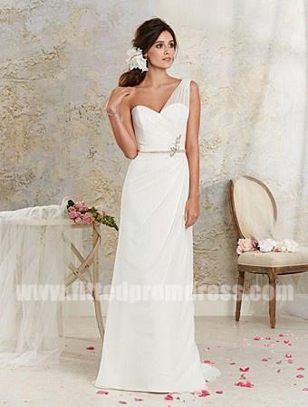 Wedding - Alfred Angelo 8534 One Shoulder Wedding Gowns