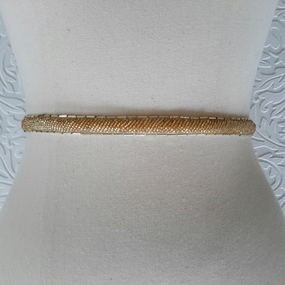 Bridal belt skinny gold belt thin gold bridal sash gold for Gold belt for wedding dress