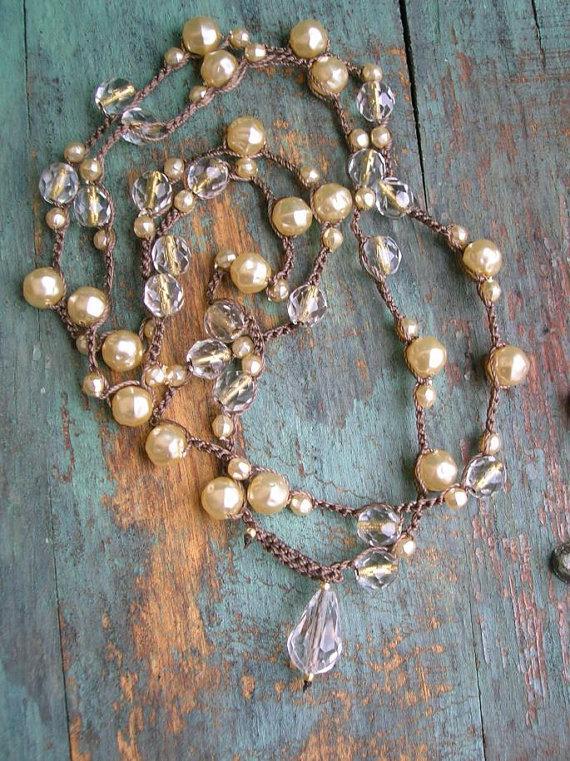 Pearl Crochet Necklace