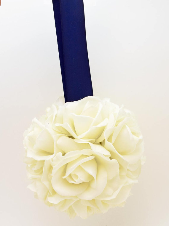 Свадьба - Reserved - Wedding Flower Package - Real Touch Rose and Calla Lily Cake Flowers
