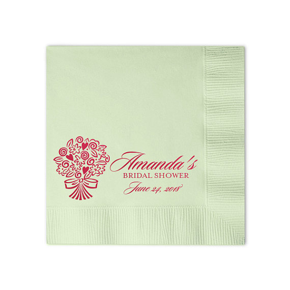 100 Personalized Napkins Beverage Amp Luncheon Size Available Wedding Napkins Shower Custom