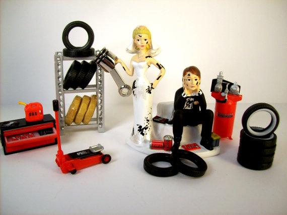 Auto Mechanic Cake Topper