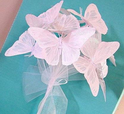 Mariage - Wedding Bouquet White Butterfly