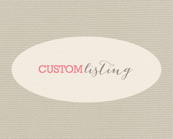 Mariage - Custom Listing for Courtney