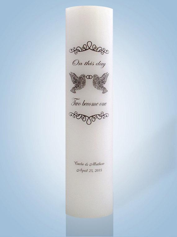 Mariage - Personalized Wedding Candle