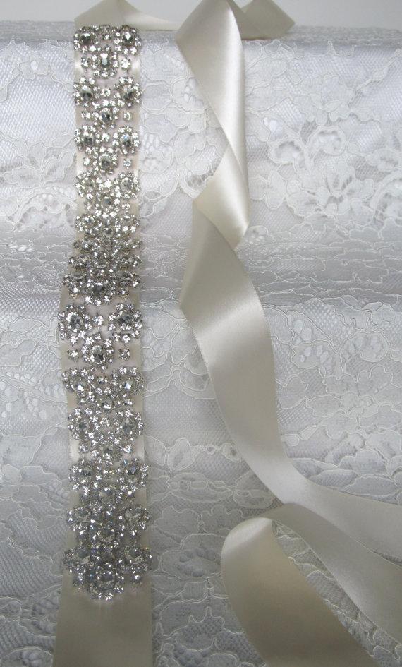 Hochzeit - Crystal Rhinestone Bridal Sash,Wedding sash,Bridal Accessories,Bridal Belt,Style #6