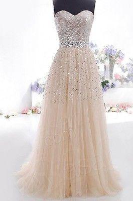 Свадьба - 2014 Cheap Plus Size Modest Champagne Prom Dresses Long Evening Part Dress W6