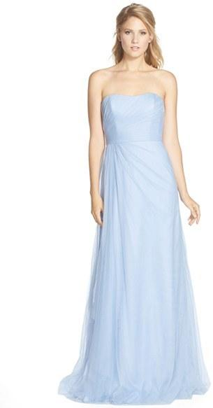 Monique Lhuillier Bridesmaids Strapless Tulle Gown Nordstrom Exclusive