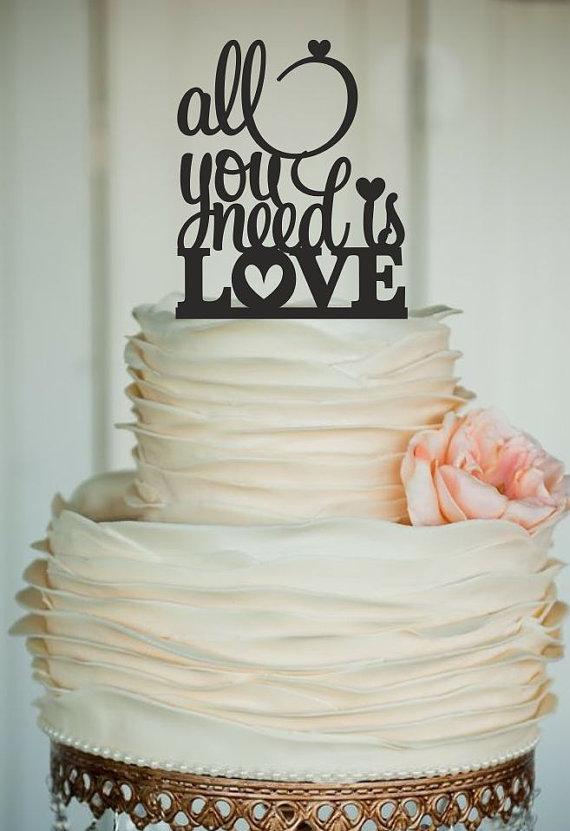 Rustic Love Cake Topper