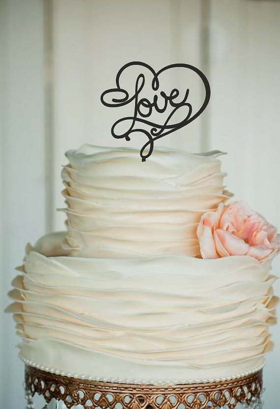 Mariage - love Wedding Cake Topper - Monogram Cake Topper - custom cake topper, Bride and Groom - rustic wedding cake topper - silhouette cake topper