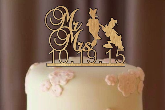 Mariage - silhouette wedding cake topper - rustic wedding cake topper - personalize cake topper - monogram cake topper - bride and groom- cake topper