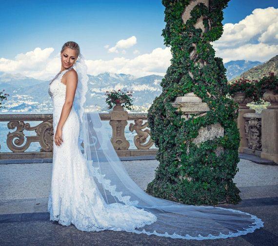 Mariage - Gorgeous Mantilla Lace Veil