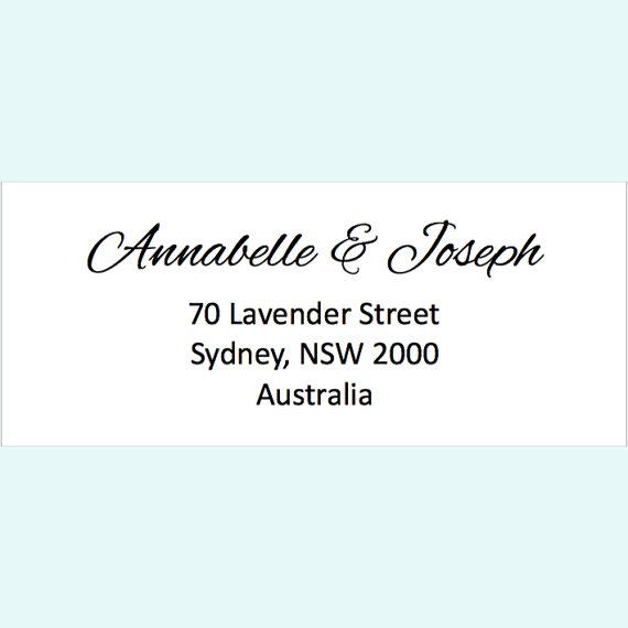 Hochzeit - Return address personalised customised sticker labels - Pack of 60