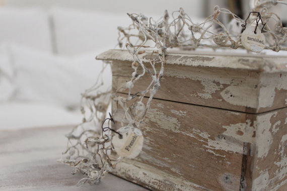 زفاف - French WireWork CROWN, ephemera GRAY ..Head pieces, Wedding cake Topper, Decorative art..one of kind