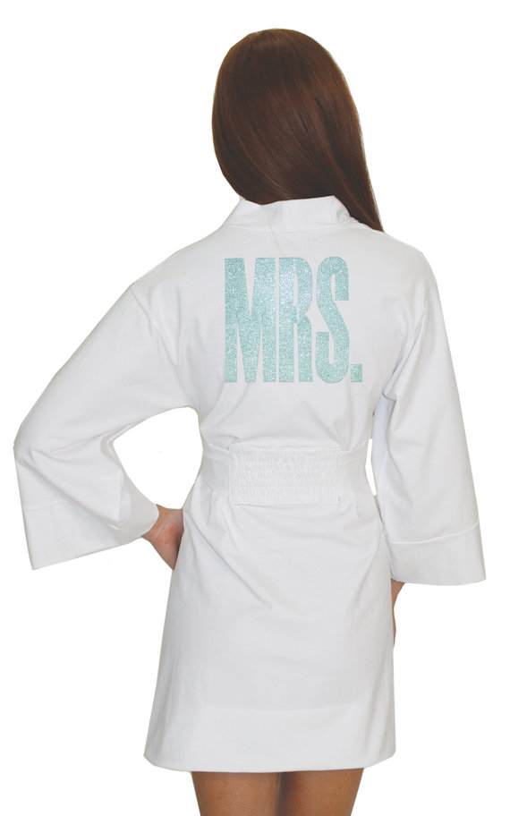 Свадьба - Mrs. Cotton Modal Robe, Bride Lingerie, Bridal Lingerie, robe, the new mrs. robe, wedding day robe, getting ready mrs. robe for the big day