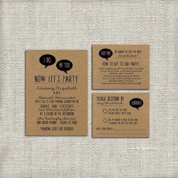 DIY Wedding Invitation Suite DEPOSIT