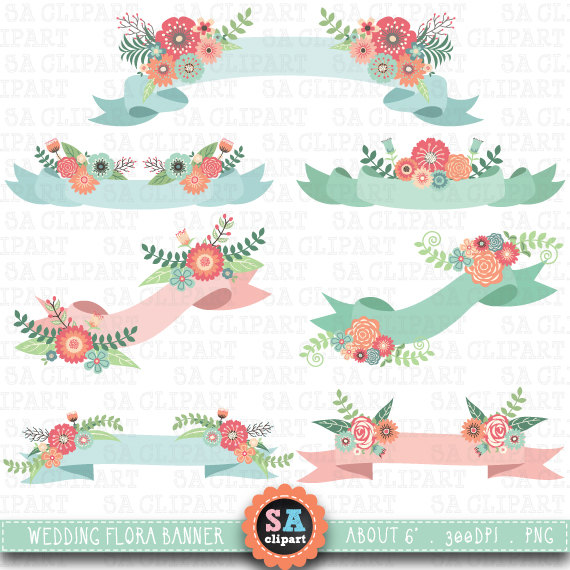 clipart floral banner - photo #34
