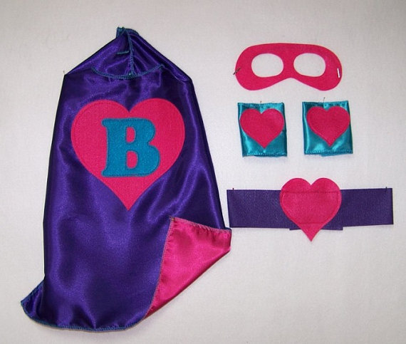 Mariage - 20% DISCOUNT on our Personalized, Double Sided cape with Mask, Cuffs and Belt