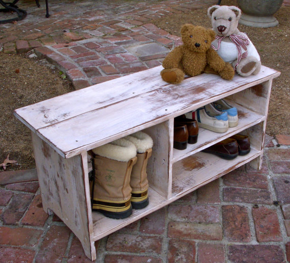 Hochzeit - Dorm Room - Entry - Wedding - Gift Ideas - Wood Storage Bench - Furniture - Entryway - Hall - Shoe Storage - Your color choice - Solid Wood