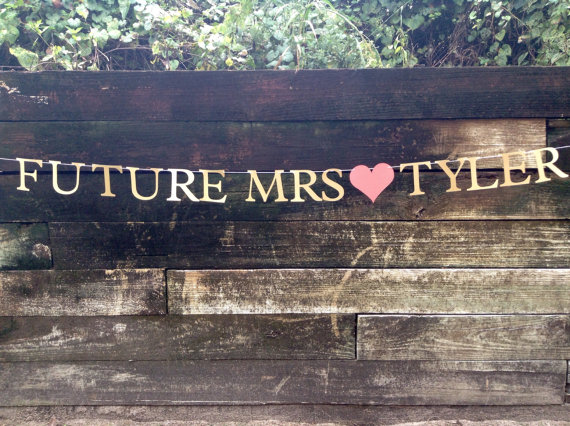 Wedding - Future Mrs. Banner for Engagement Pictures, Bachelorette Parties, or Bridal Shower Decorations