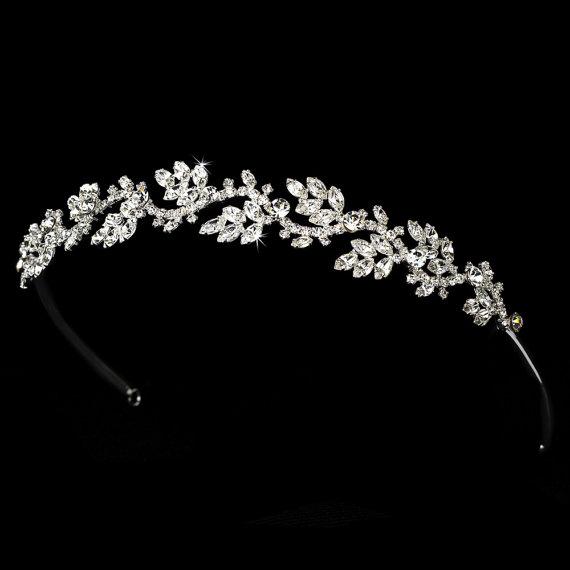 Wedding - Rhinestone bridal headband, Crystal Bridal headpiece, Rhinestone headband, Wedding headpiece, Bridal hairband
