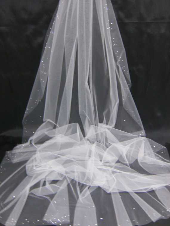 Wedding - Design Your Own Swarovski Crystal Rhinestone Cathedral Length Veil