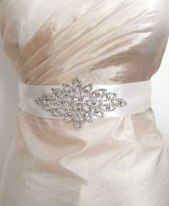Hochzeit - Rhinestones Sashes Beaded Bridal Wedding Belts