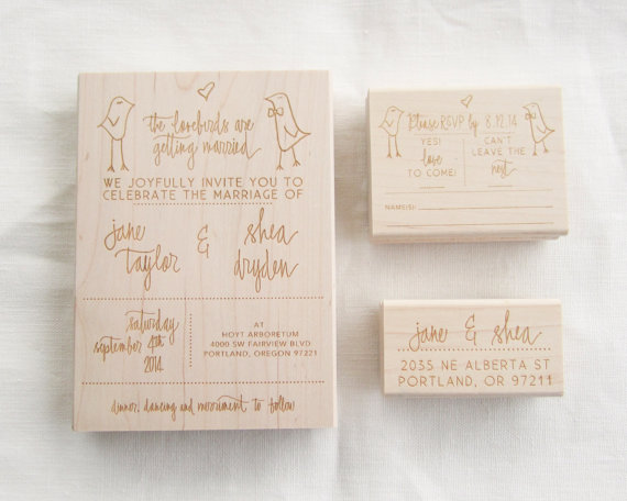 Wedding Invite Stamp: Wedding Invitation Stamp Suite
