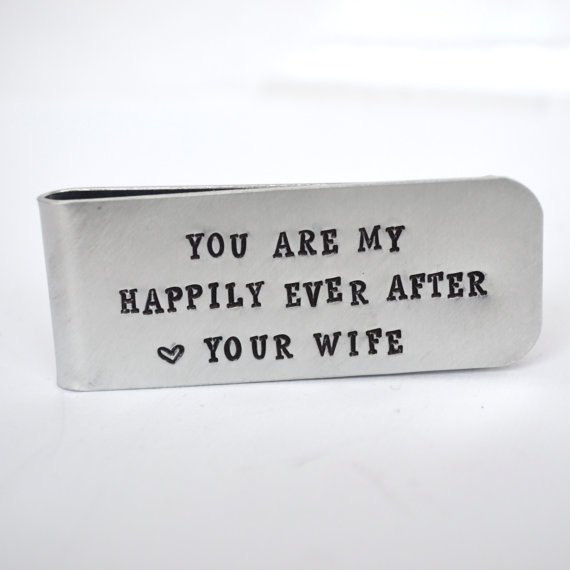 Custom Wedding Gift For Husband : Boda - Husband Gift Money Clip- Wedding Gift for Groom- Groomsmen ...