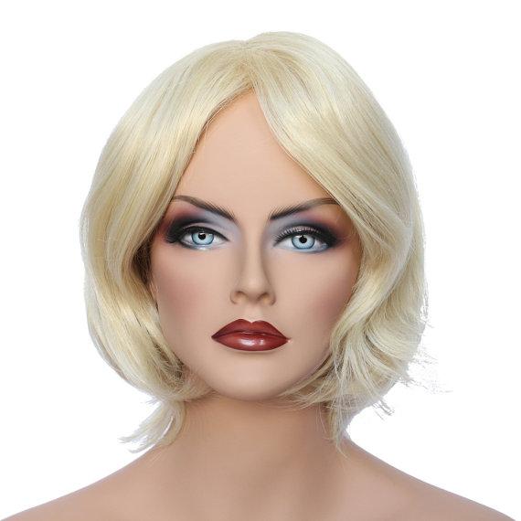 Свадьба - Daily wear women's short fashion Light Blonde wig like natural hair, ZP14 SKU: 10K32