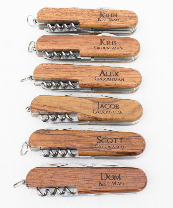 Wedding - Ring Bearer Gift, Engraved Pocket Knife, Personalized Groomsmen Gift, Personalized Wedding Favor, Knife, Personalized Gift