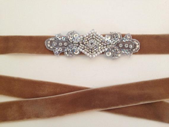 زفاف - Wedding sash,1920s Headband, Great Gatsby Dress, Great Gatsby Headband,Flapper Dress, Flapper Headband, 1920s Sash, Flapper Belt