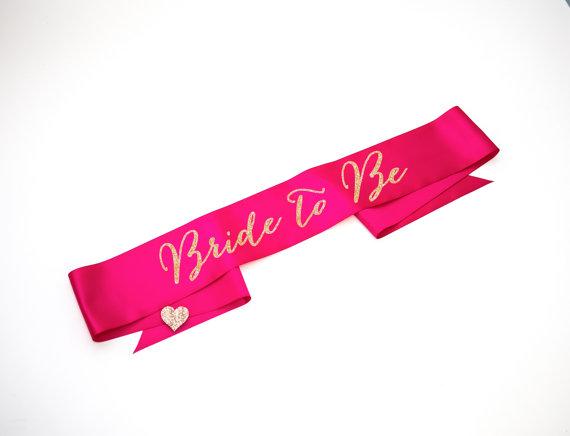 Bride Sash For Bridal Shower Bachelorette Party Accessories Decor