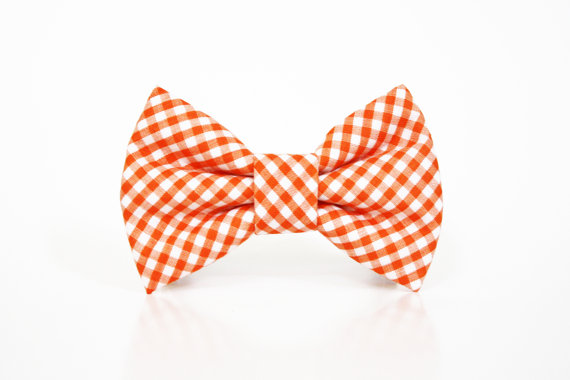 Свадьба - Dog Bow Tie- Gingham- More options available- dog collar accessory