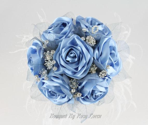 Wedding - Blue Bouquet, Blue Bridal Bouquet, Blue Wedding Bouquet