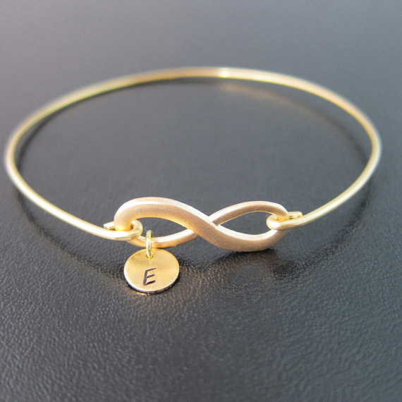 Infinity Bracelet Personalized Gift Wedding Gifts For Bridesmaid Monogram Knot Jewelry Unique