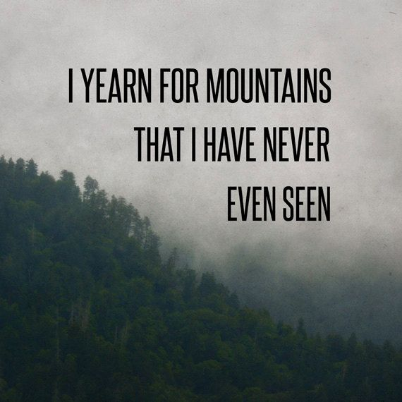 traveling throughout your deep mountain