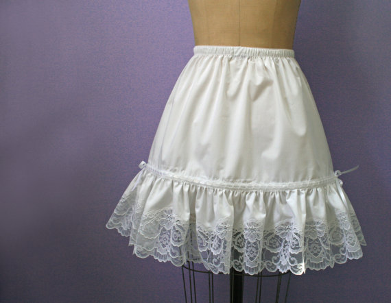 Свадьба - Plus Size White Lace  Petticoat,  custom made to your size and length