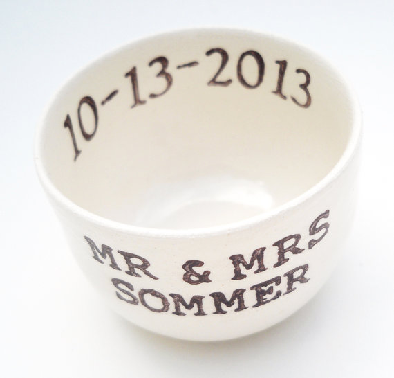 Hochzeit - MR and MRS WEDDING ring dish bridal shower gift idea wedding gift wedding ring holder custom ring pillow personalized custom wedding date