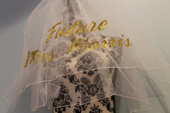 Wedding - bachelorette veil