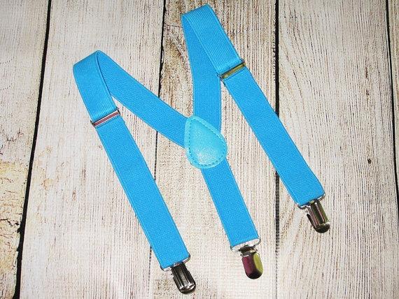 Wedding - Blue Suspenders boys suspenders, baby suspenders, Infant toddler kids, photo prop, wedding ring bearer suspenders