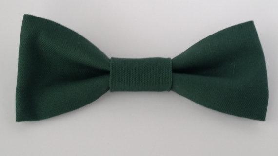 Свадьба - Dark Green Bow Tie