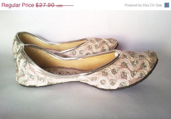 Свадьба - 15%Summer Celebrations US Size 5/Silver Shoes/Women Ballet Flats/Pink Shoes/Bridal Shoes/Wedding Shoes/Bridesmaid Gift/ Ballet Flats/Wedding