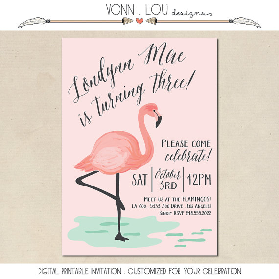 Flamingo invitation flamingo party pool party baby shower flamingo invitation flamingo party pool party baby shower bridal shower wedding hand illustrated diy custom invite printable filmwisefo