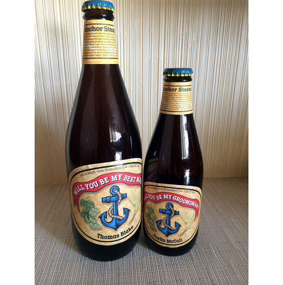 Свадьба - Personalized Beer Label. Create a custom label for any occasion- weddings, birthdays, parties. Ask groomsmen. PRIORITY SHIPPING