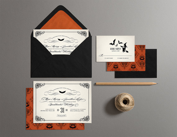 halloween wedding invitations printable halloween wedding invites