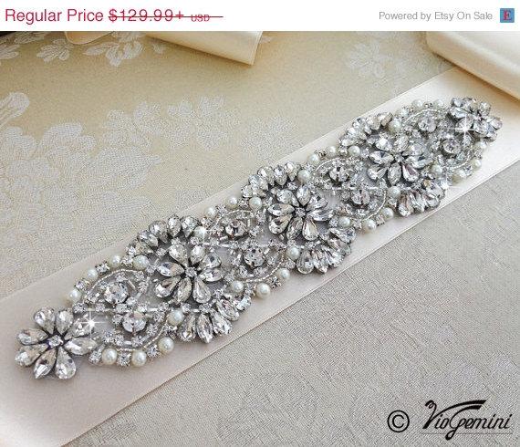 Mariage - 20% OFF Bridal Sash Belt, Bridal Belt, Sash Belt, Wedding Dress Belt, Crystal Rhinestone Belt