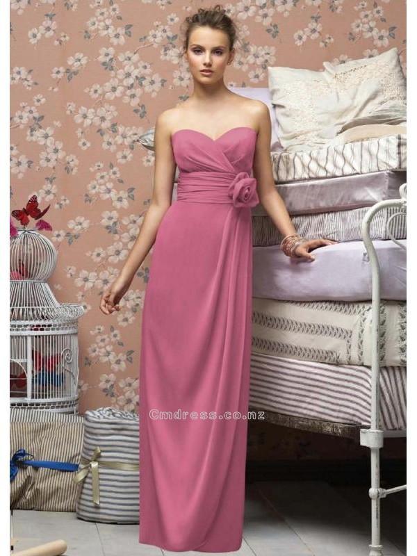 Свадьба - A line Sweetheart Floor length Chiffon Bridesmaid DressesSKU: BM000083
