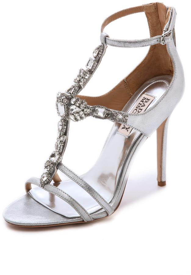 82ee42cedf7 Badgley Mischka Giovana T Strap Sandals  2341319 - Weddbook